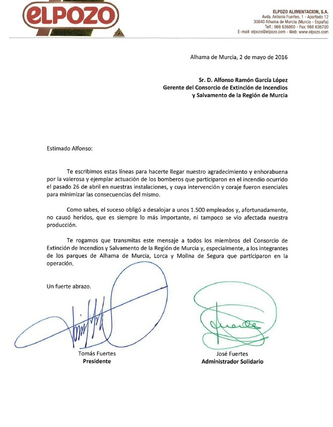 Carta ElPozo